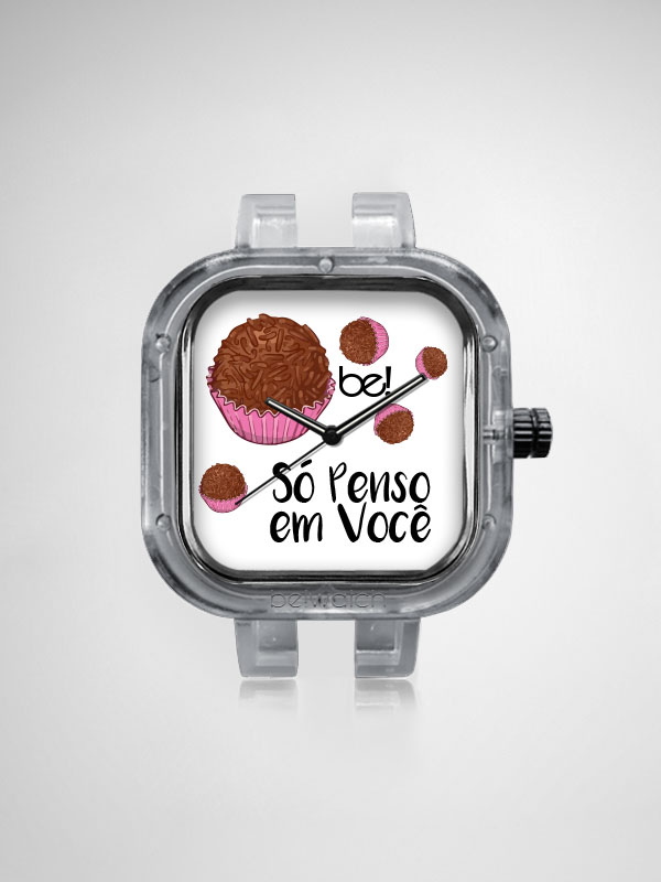 Relogio Be Watch Brigadeiro Chocolate
