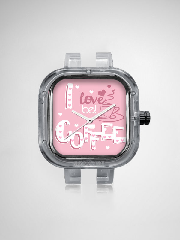 Relogio I love Coffee Be!